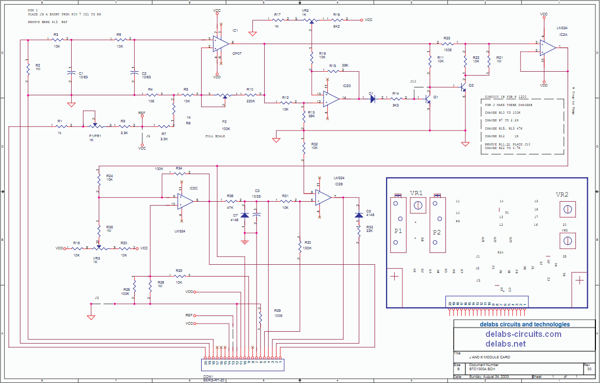 Schematics Of Delabs 2018 Addition Stc 1000 Wiring Diagram Also Temperature Controller Input Module J And K Thermocouple With 4 20 Ma