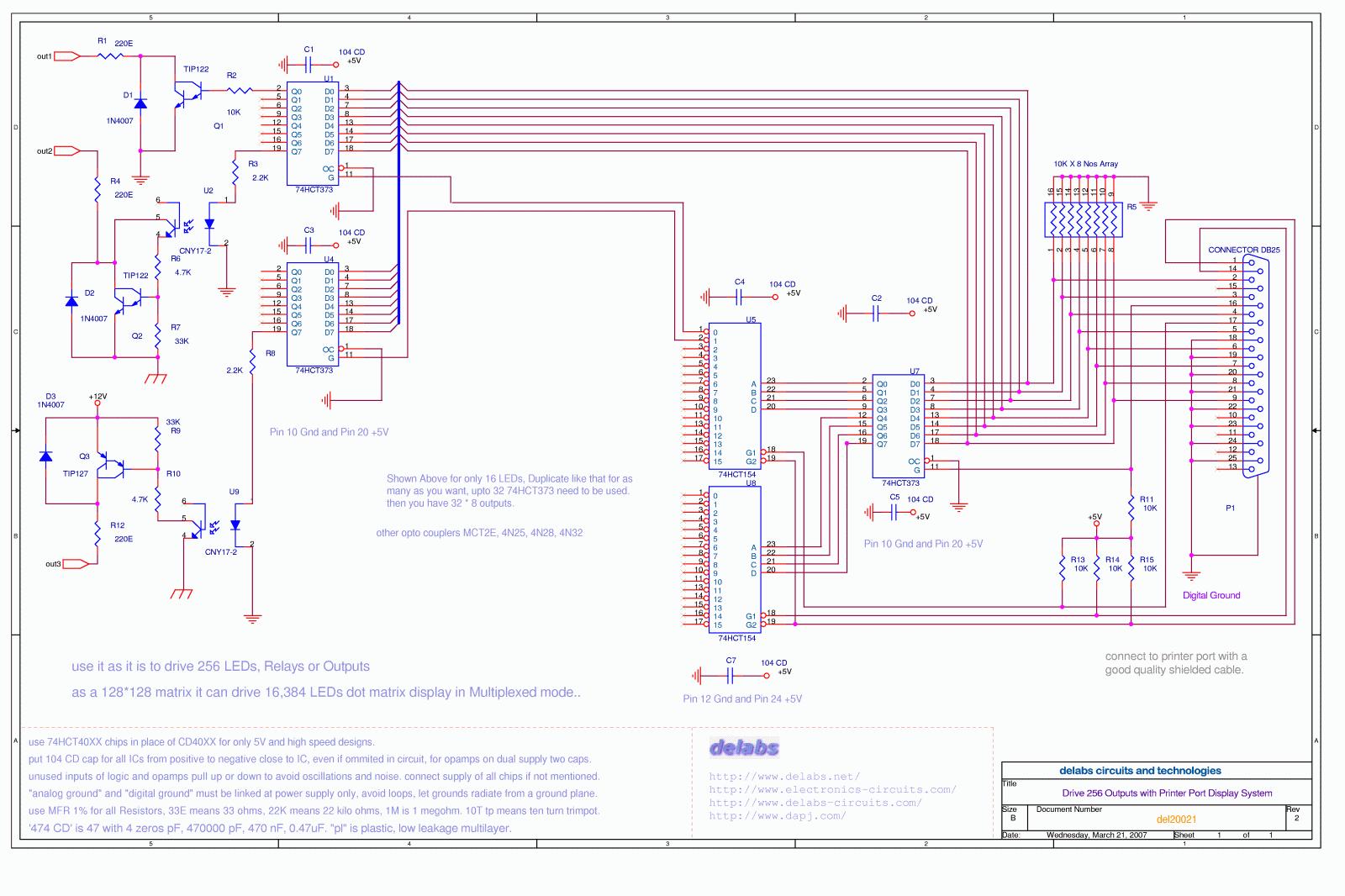 Printer port 256 relays 16k dot matrix del20021 swarovskicordoba Choice Image