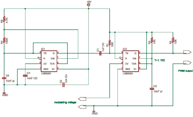 fsk modulation using 555 Simulation – bistable latch using 555  555-timer the astable multivibrator  with selective frequency input gives fsk frequency shift keying.