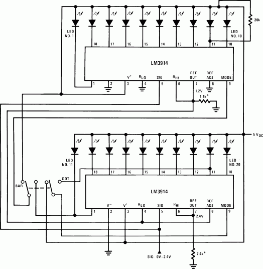 Mains Voltage monitor using LM3914 - delabs