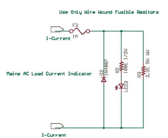 Mains Current LED Indicator