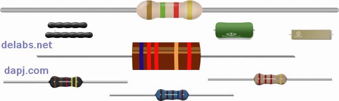 Types of Resistors - Color code - delabs