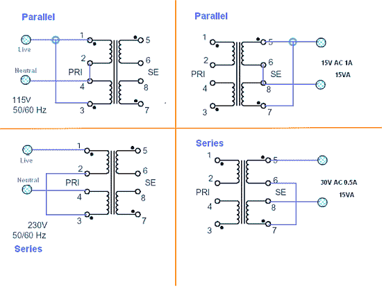 mains voltage power transformers delabs rh delabs circuits com wiring current transformers in series wiring 2 transformers in series