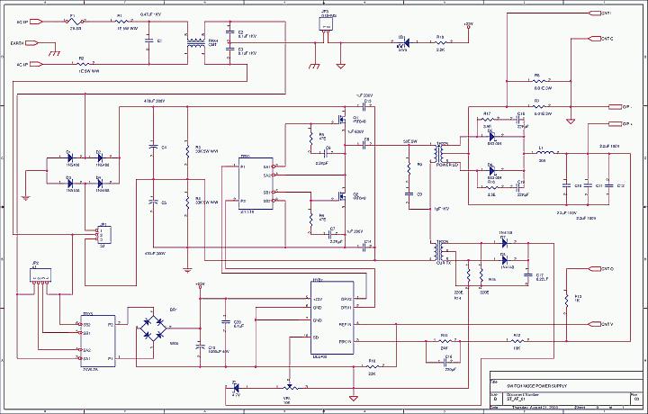 100kHz Half Bridge Convertor SG3525 - del50032