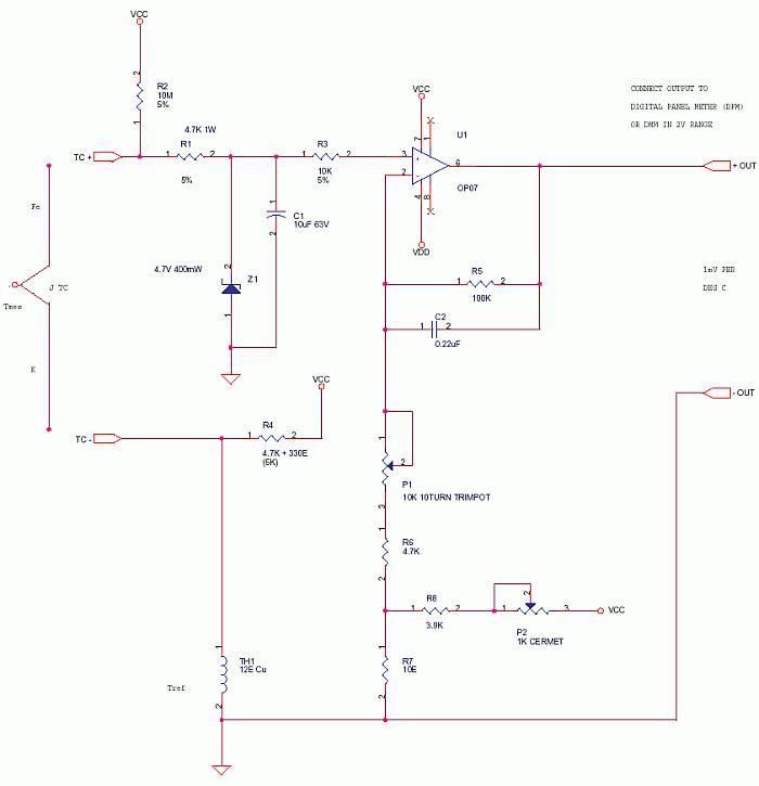 Thermocouple Circuit Symbol