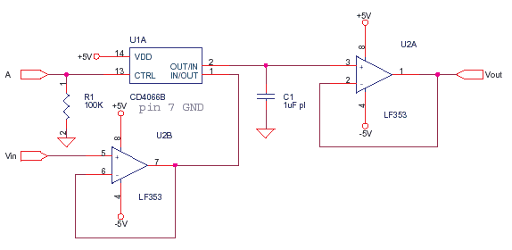 Simple Sample and Hold with CD4066