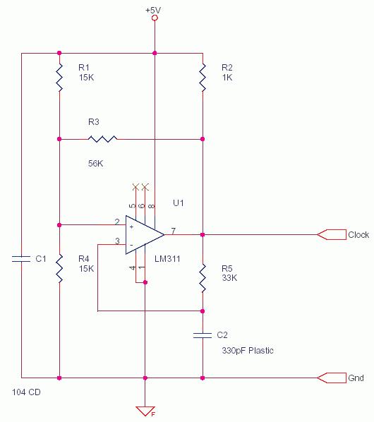 LM311 Square Triangle Oscillator for PWM