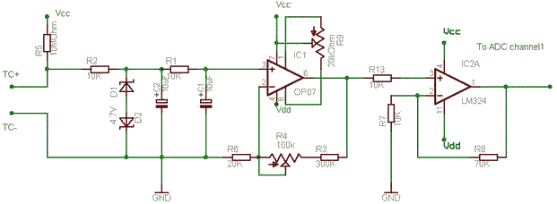 Simple Thermocouple Amplifier