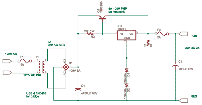 Single Polarity Power Supply